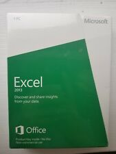 Microsoft Excel 2013 Product Key Card, Non-Commercial (1PC/1User), SKU 065-07648