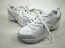 NEW BALANCE, KX624 YOUTH LACE-UP TRAINING/UNIFORM SHOE, WHITE, US 12W,NEW/DEFECT
