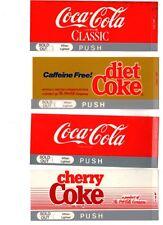 "Coca-Cola Machine Inserts with Light Hole (4) 2 5/16"" x 5 11/16"" Coca-Cola (4)"