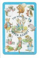 THE WORLD OF PETER RABBIT X 1 ONLY SINGLE VINTAGE PLAYING/SWAP CARD (2006) *