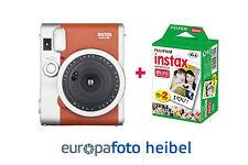 Fujifilm Instax Mini 90 Neo Classic immediatamente immagine Marrone Fotocamera con 20 immagini NUOVO