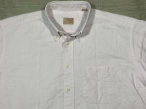 Gitman Bros GOLD L/S button down Oxford dress shirt 16.5 34 pink tick stripe