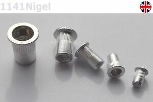 Aluminium Flat Head Rivet Nuts Available In Sizes M3 M4 M5 M6 M8