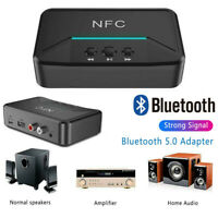 Wireless Bluetooth NFC Receiver 5.0 aptX LL RCA 3.5mm Jack Aux Audio Adapter/*