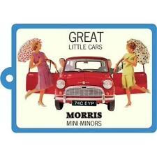 Official Mini Morris Minor Metal Keyring Retro Vintage Dad Gift Novelty New