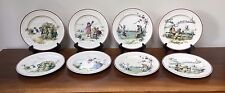 Antique Brownfield & Sons PASTIMES KATE GREENAWAY Dinner Plates ~ Set of 8