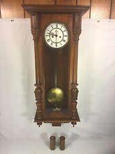 Antique 1886 Gustav Becker Vienna Wall Regulator Clock Running & Striking