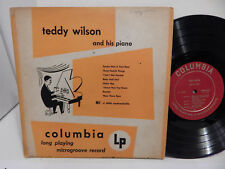 "10"" Teddy Wilson and his Piano 33 original 1950 CL 6098 Deep Groove 8 Tracks LP"
