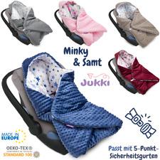 Baby EINSCHLAGDECKE MINKY mit Kapuze Babyschale Kinderwagen Kindersitz Decke ?EU