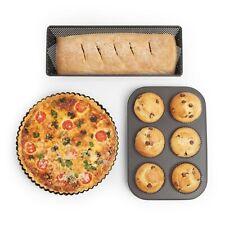 VonShef Crisp Bakeware Set - 3 Steel Non-Stick Baking Moulds for Crispy Baking