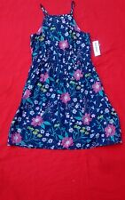 OLD NAVY GIRLS  DRESS  REGULAR 8  FLORAL BLUE   SLEEVELESS  COTTON