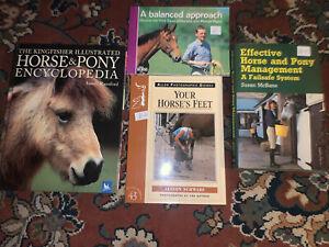 Set Bundle Of Horse Pony Care Maintenance Books Information Reference Job Lot