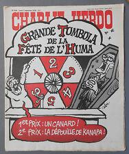 ►CHARLIE HEBDO N°408  - SEPTEMBRE 1978 - CABU