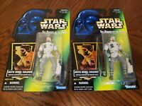 Kenner Star Wars LOT OF 2 The Power Of The Force HOTH REBEL SOLDIER figures MOC