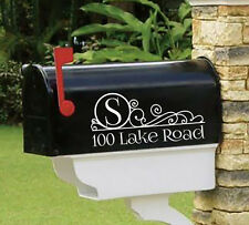 """Personalized vinyl MAILBOX decals! SET OF 2 - 4.5"""" X 10"""" DECALS! MAI-00003"""