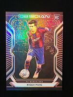 2020-21 Panini Obsidian Riqui Puig ORANGE ELECTRIC ETCH #40 SSP RC #/50 BARCA