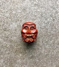 An Antique Meiji Era Japanese Well Carved Bead