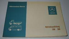 Betriebsanleitung Mercedes T 1 / TN 208 / 308 Bremer Transporter Stand 03/1977!