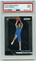 2018-19 Panini Prizm #280 Luka Doncic Rookie Card PSA Mint 9