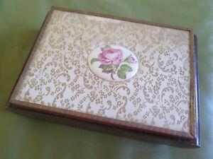 THORENS Timber Jewellery Box Shabby Chic