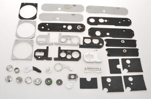 Nikon lot of spare parts for Nikon cameras; F, F2, F3, Nikkormat, sold as is