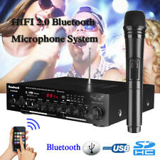 500W 2-Ch Bluetooth Digital Echo Karaoke Amplifier Microphone Receiver System