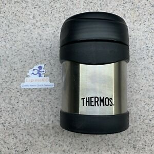 (MJ) Thermos 10oz Insulated Food Jar Stainless Steel Black