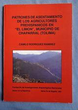Patrones de Asentamiento de los Agricultores Prehispanicos  by Camilo Ramirez