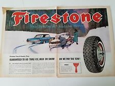 1963 Firestone Tires Winter Tire Ice Mud Snow Gauranteed Original Ad
