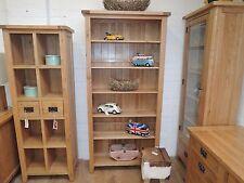 Vancouver Besp-Oak Petite Oak Tall Bookcase Adjustable Shelves NB084