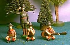 TOY SOLDIERS METAL AMERICAN BOY SCOUTS CAMP FIRE 5 PC SET 54MM