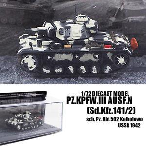 Pz.Kpfw.III Ausf.N(Sd.Kfz.141/2) sch. Pz. Abt.502 Kelkolowo USSR 1/72 TANK IXO