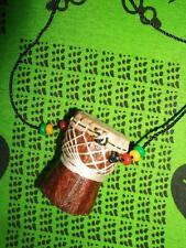 African D'jembe Drum Necklace new handmade Africa drummer music M/L jndl55