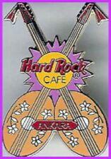 Hard Rock Cafe ANKARA (Closed) 1999 Crossed SAZ Guitars VIOLET Splash PIN #275