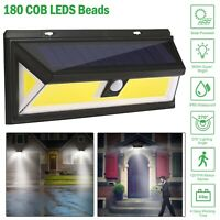 LED Solar Power PIR Motion Sensor Light Outdoor Yard Garden Lamp Waterproof