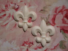 FLEUR DE LIS (2 pcs.)FURNITURE APPLIQUE ONLAY EMBELLISHMENT