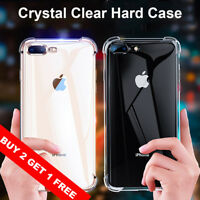 For iPhone XS Max XS X 8 7 Plus Case Crystal Clear Bumper Hard Back Shockproof