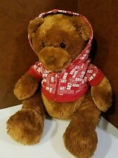 Aeropostale Store Teddy Bear Plush 16in wearing Logo Hoodie Sweat Top Tags 2007