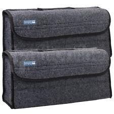 2 x Car Grey Carpet Boot Storage Bag Organiser Tools Breakdown Travel Tidy Large