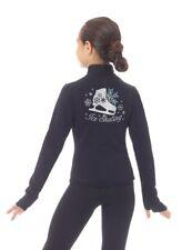 Figure Skating Jacket Mondor Purple 24482 Princess Seam Rhinestones Youth 6-8