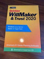 Nolo Quicken WillMaker Trust 2020 Estate Planning Software NEW Windows or MAC