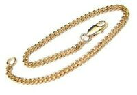 Chain Link Bracelet Dainty 24K Gold gp 7 inches Lifetime Warranty Made in USA
