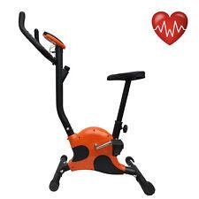 Cyclette belt cardio fitness allenamento bici da camera con computer arancione