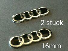 Schlüssel fernbedienung  emblem logo aufkleber key fob Audi 16 mm (2 stuck)