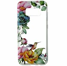 Milk & Honey Floral Humming Bird Clear Case Cover For Samsung Galaxy S8