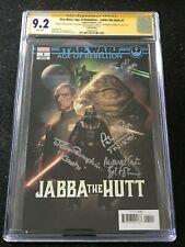 Signed STAR WARS AOR JABBA THE HUTT #1 CGC 9.2 by 3X NIKTO KLAATU BIB FORTUNA