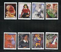 Z894  Barbuda  1987  art paintings Chagall  OVERPRINTED  8v.      MNH