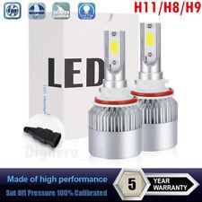 2x H11 LED Headlight 1200W 168000LM H8 H9 Low Beam COB Fog Bulb White 6000K HID