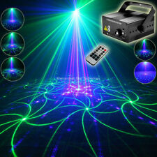 Remote Blue Led G&B Laser 24 Patterns Projector Bar Dj Dance Disco Party Light