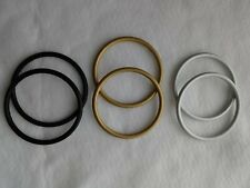 """6Pcs 3.5"""" Crafting Aluminum Rings Baby Sling Carrier 3 Pairs"""